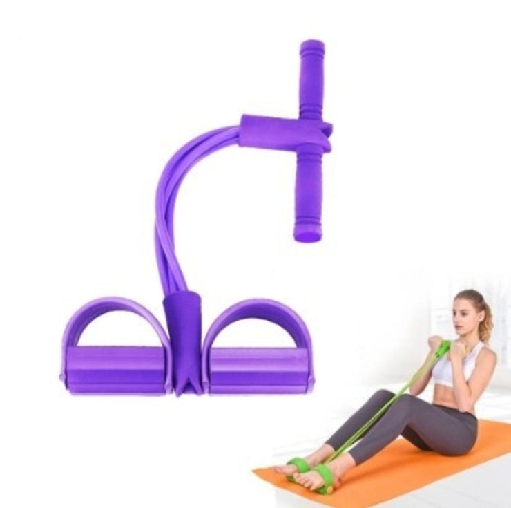 4 Tube Resistance Band with Pedal