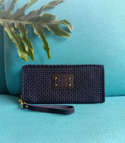 Cheska Wallet with Wristlet Navy Blue - Rags2Riches