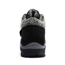 Lade das Bild in den Galerie-Viewer, Damen Wildleder Warm Gefütterte Stiefel Slip On Flache Winterschuhe