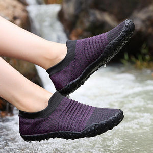 Frauen Casual Outdoor Large Round Toe Mesh Slip On Flache Schuhe