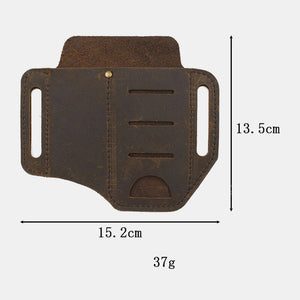 Herren Echtleder Wing Leder Holster Gürteltasche Military Tactical Bag