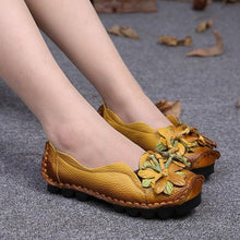 Lade das Bild in den Galerie-Viewer, Damen-Grain-Leder-Schuhe Flache Slipper