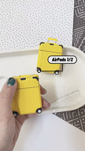 Load and play video in Gallery viewer, Luxury Yellow Luggage Airpod Case Gen 1/2