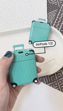 Load and play video in Gallery viewer, Luxury Teal Luggage Airpod Case Gen 1/2
