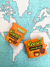 Load image into Gallery viewer, Cute 3D Reese's Chocolate Bar Silicone Airpod Case Gen 1/2 and Pro with Keychain