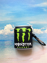 Load image into Gallery viewer, Monster Energy Can Airpod Case Gen 1/2 with Keychain