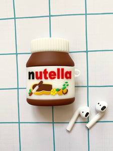 Nutella 3D Silicone Airpod Case Gen 1/2 with Keychain