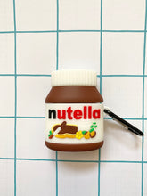 Load image into Gallery viewer, Nutella 3D Silicone Airpod Case Gen 1/2 with Keychain