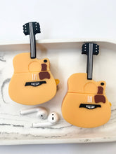 Load image into Gallery viewer, Guitar 3D Silicone Airpod Case Gen 1/2 with Keychain
