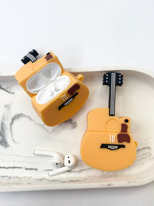 Guitar 3D Silicone Airpod Case Gen 1/2 with Keychain