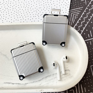 Luxury Silver Luggage