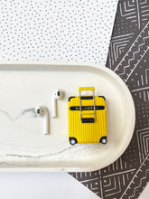 Load image into Gallery viewer, Luxury Yellow Luggage Airpod Case Gen 1/2