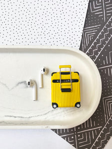 Luxury Yellow Luggage Airpod Case Gen 1/2