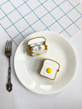 Load image into Gallery viewer, Toast with Eggs 3D Silicone Airpod Case Gen 1/2 with Keychain