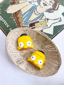The Simpsons Cartoon Character 3D Silicone Airpod Case Gen 1/2 with Keychain