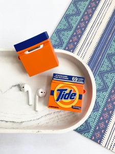 Tide Laundry Powder 3D Silicone Airpod Case Gen 1/2 with Keychain
