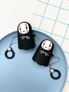 No Face Anime Cartoon Character 3D Airpod Case Gen 1/2 with Keyhchain