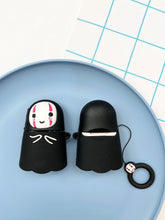 Load image into Gallery viewer, No Face Anime Cartoon Character 3D Airpod Case Gen 1/2 with Keyhchain