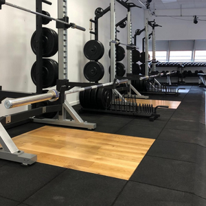 Custom Oak Integrated Weightlifting Platform