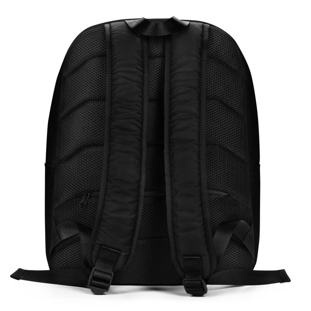 Minimalist Fire-Red Vent Signature Logo Backpack