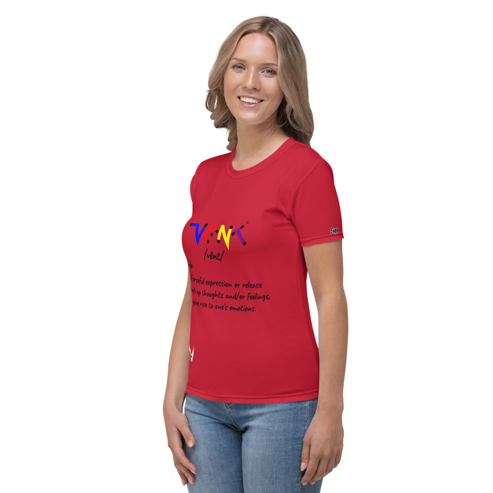 Multi-Colored Vent Definition Women's Tee