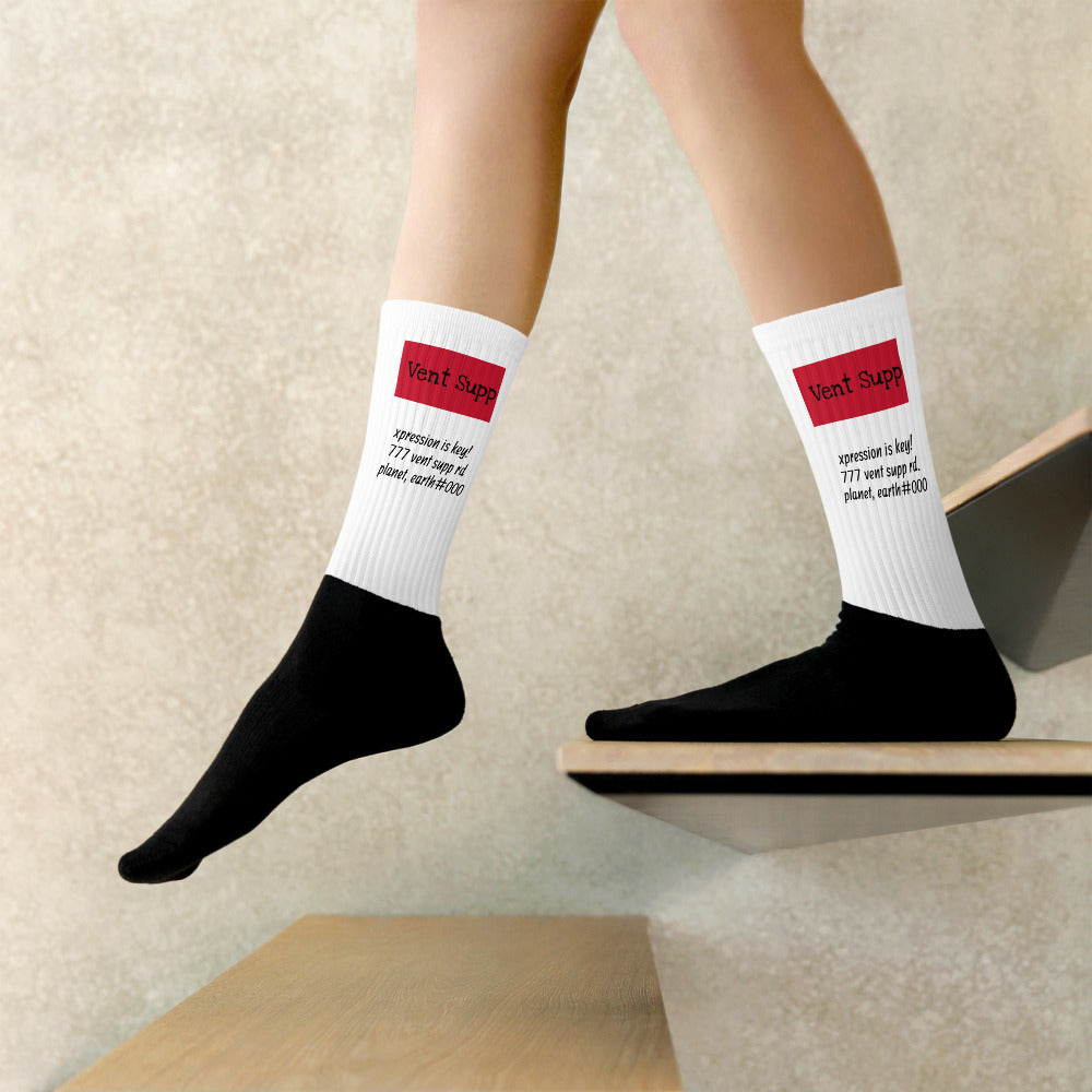 "Square ""Label-Address"" Vent Socks"