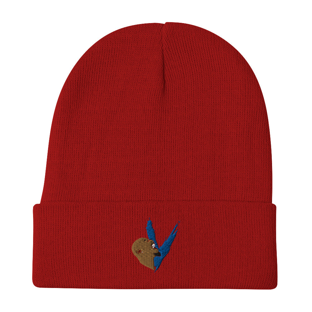 beanie with logos, la beanies, off-white, supreme, cotton beanies, winter beanies, red beanie, blue logo