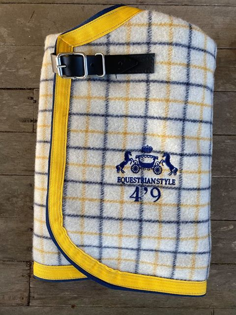 Traditional Collar Check Navy and Yellow