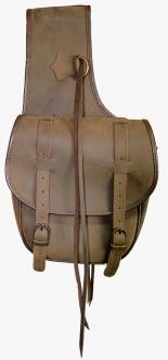 RUSTLER NUBUCK DOUBLE SADDLE BAG - BRN