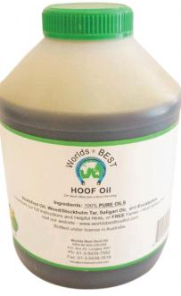 Worlds Best Hoof Oil 1 Litre with brush