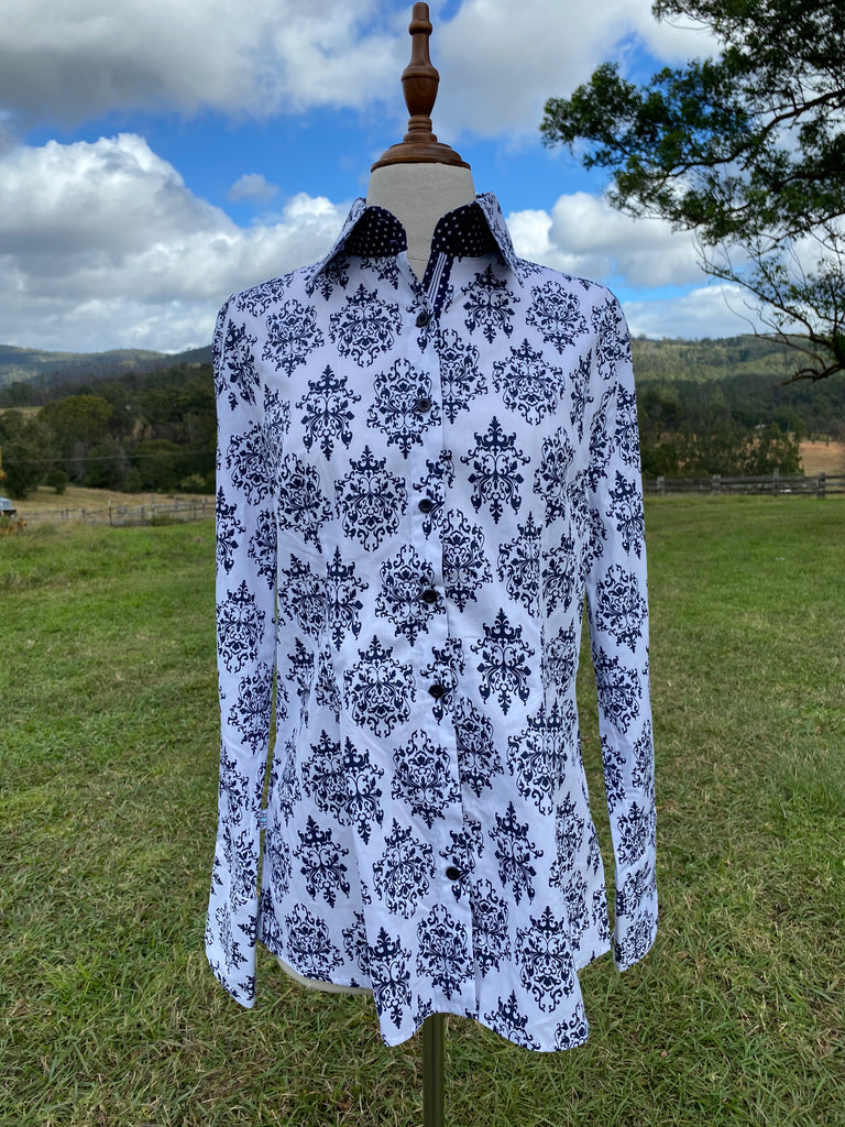 Damask fitted shirt
