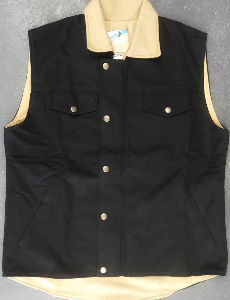 Unisex Oilskin Vest - Fleece lined