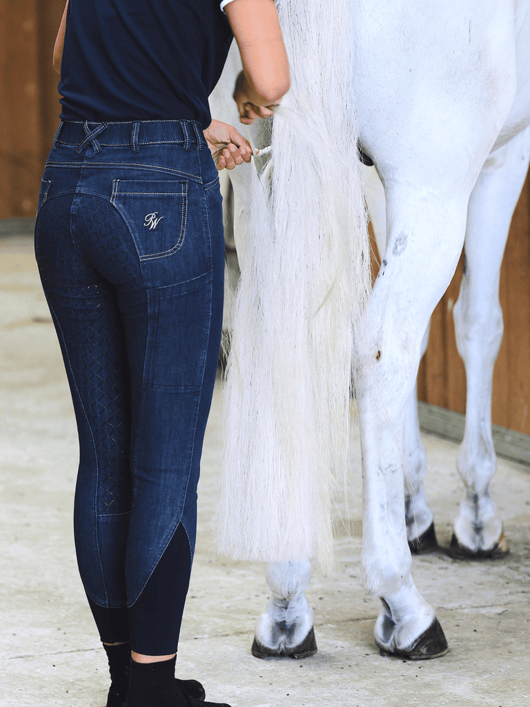 Peter Williams Star Denim Breeches with Phone Pocket - Ladies