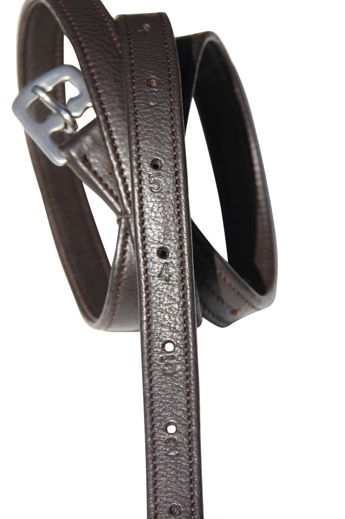 Nappa Covered Stirrup Leathers Childs 50''