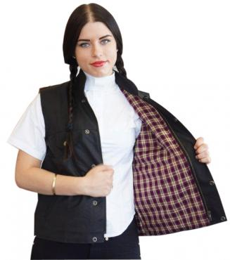 Unisex Oilskin Vest - Cotton Lined