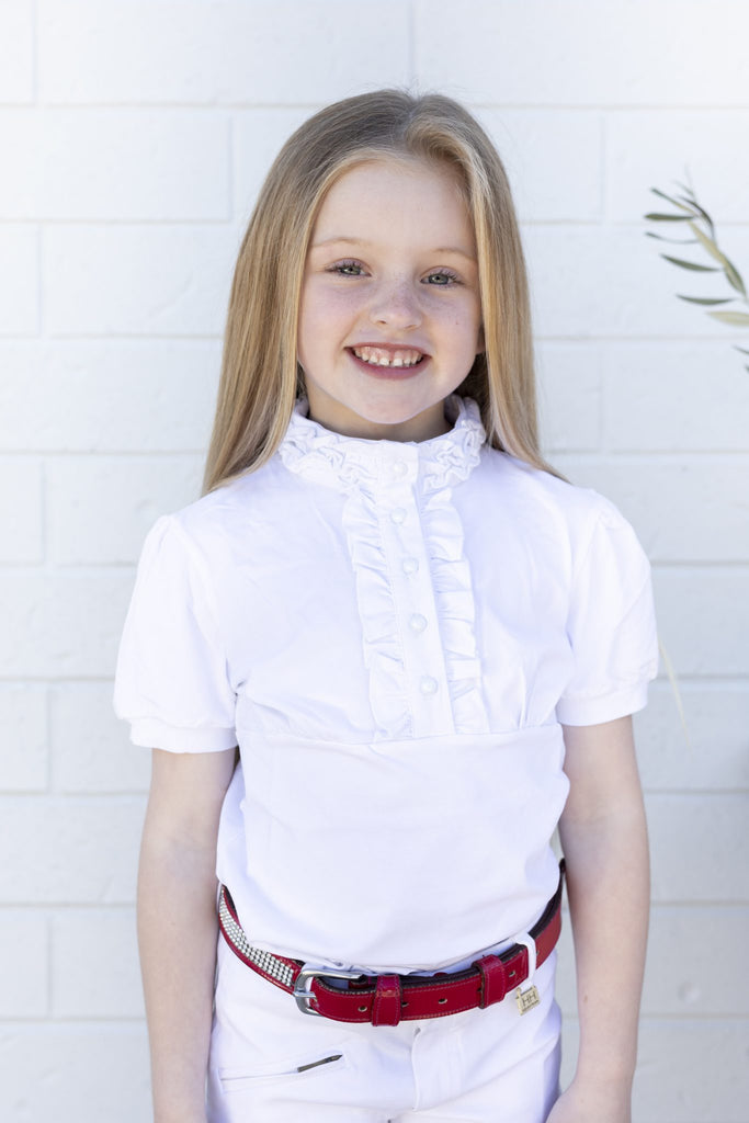Ruffle Neck Riding Shirt