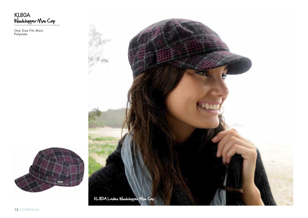 Woodchopper Cap Pink Check