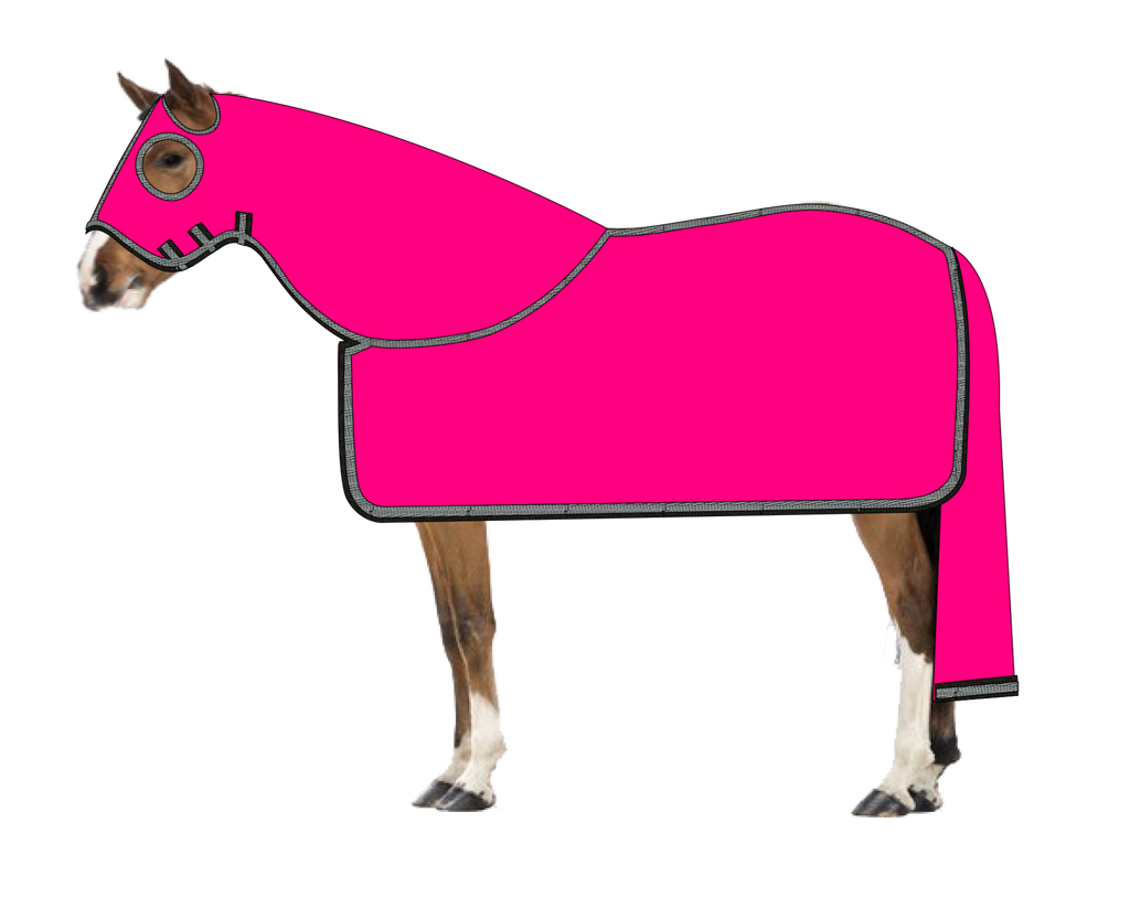 Hot Pink Rug Hood & Tail Bag 4'9