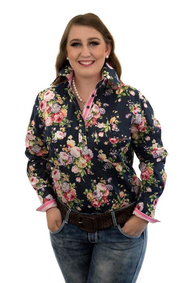 Bold Floral Semi Fitted Shirt