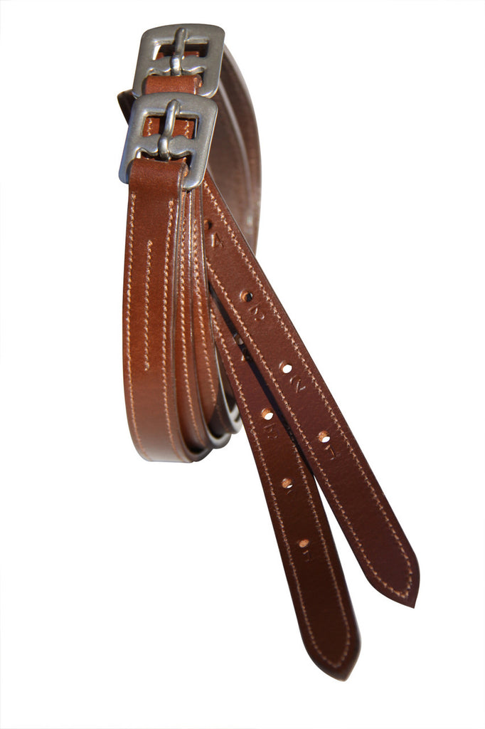 Stitched Edge Show Stirrup Leathers Adults 56''