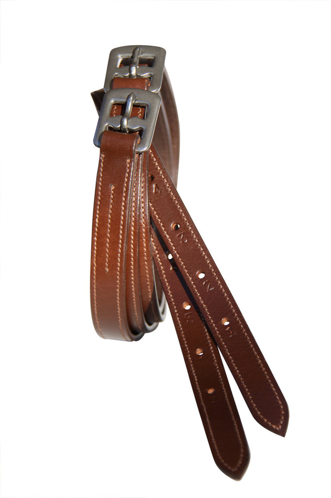 Stitched Edge Show Stirrup Leathers Childs 36'' - 50''