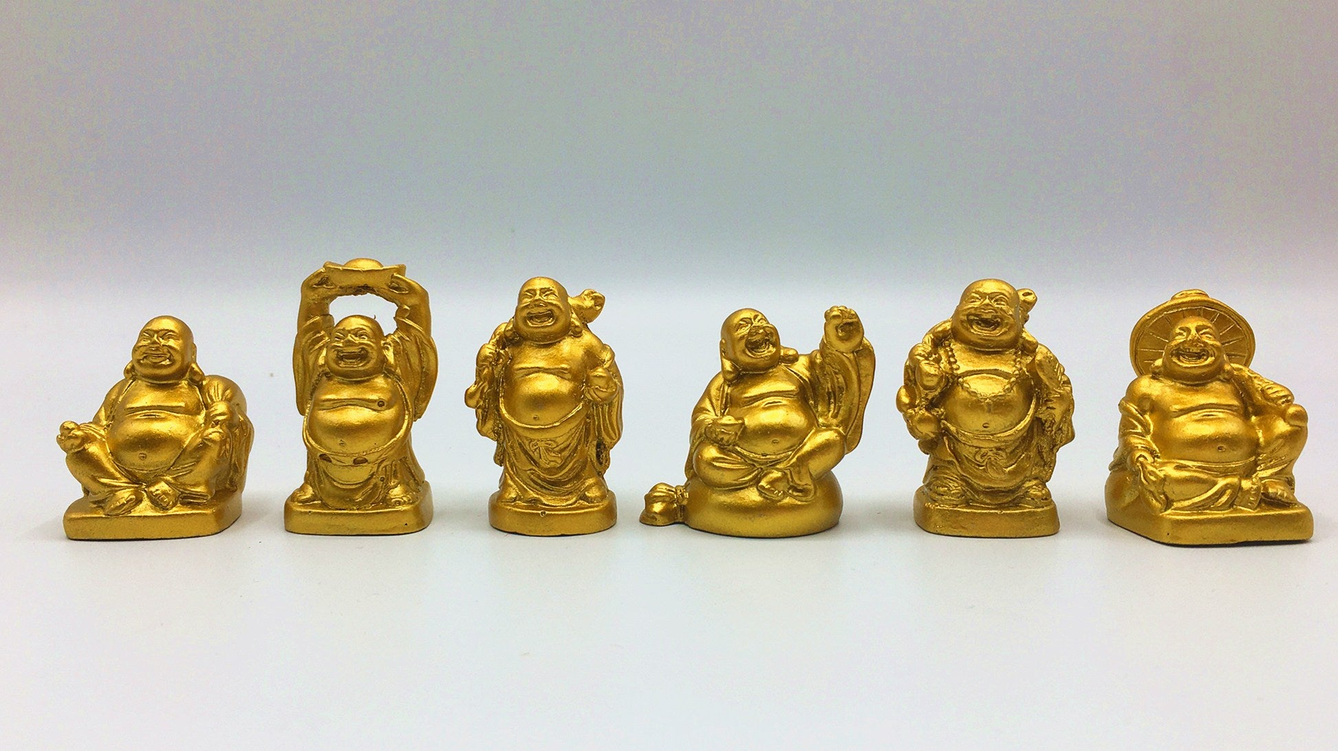 Laughing Buddha Figurines | Lucky Happy Buddha | LAUGHING BUDDHA Statue |2'' Set of 6 Gift