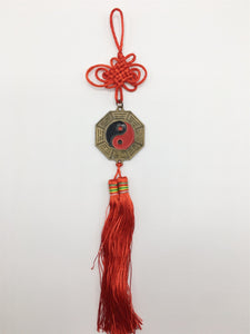 YinYang Feng Shui ornament with Chinese red thread knot