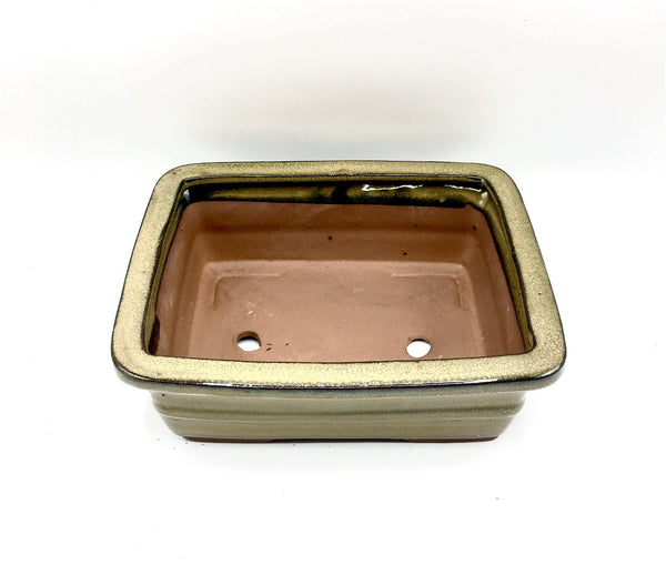 9''Glazed Bonsai Pot