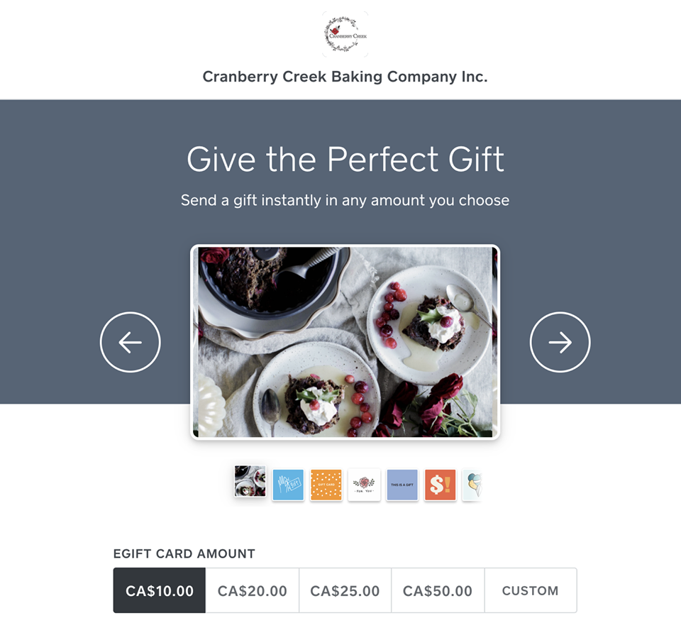 Cranberry Creek Baking Co Gift Card