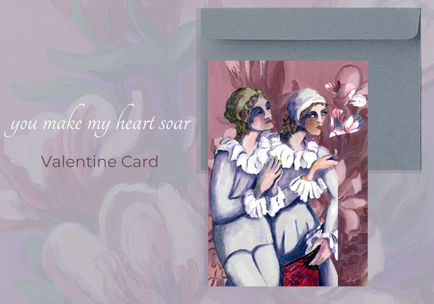 "Greeting Card ""You Make My Heart Soar"" Valentine and Special Occasion Card"