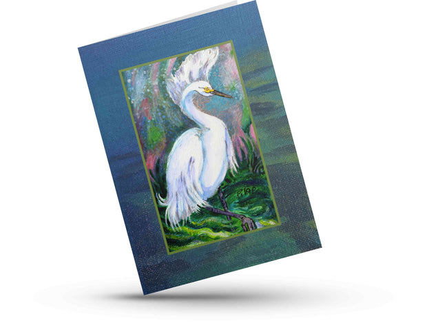 "Greeting Card, ""Snowy Egret"""