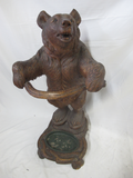 19th Century Carved Wood Black Forest Bear Umbrella Stand