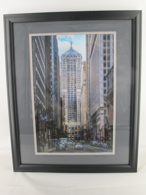 David Vincent Framed Limited Edition Digital Photograph A DAY in the LIFE Chicago