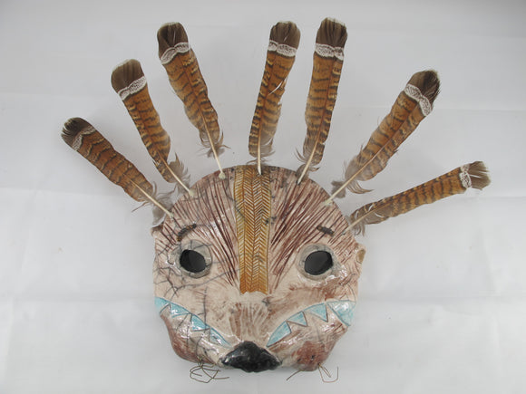 LILIAN PITT Pacific NW Native American SEA OTTER Multi-Media Indian Mask